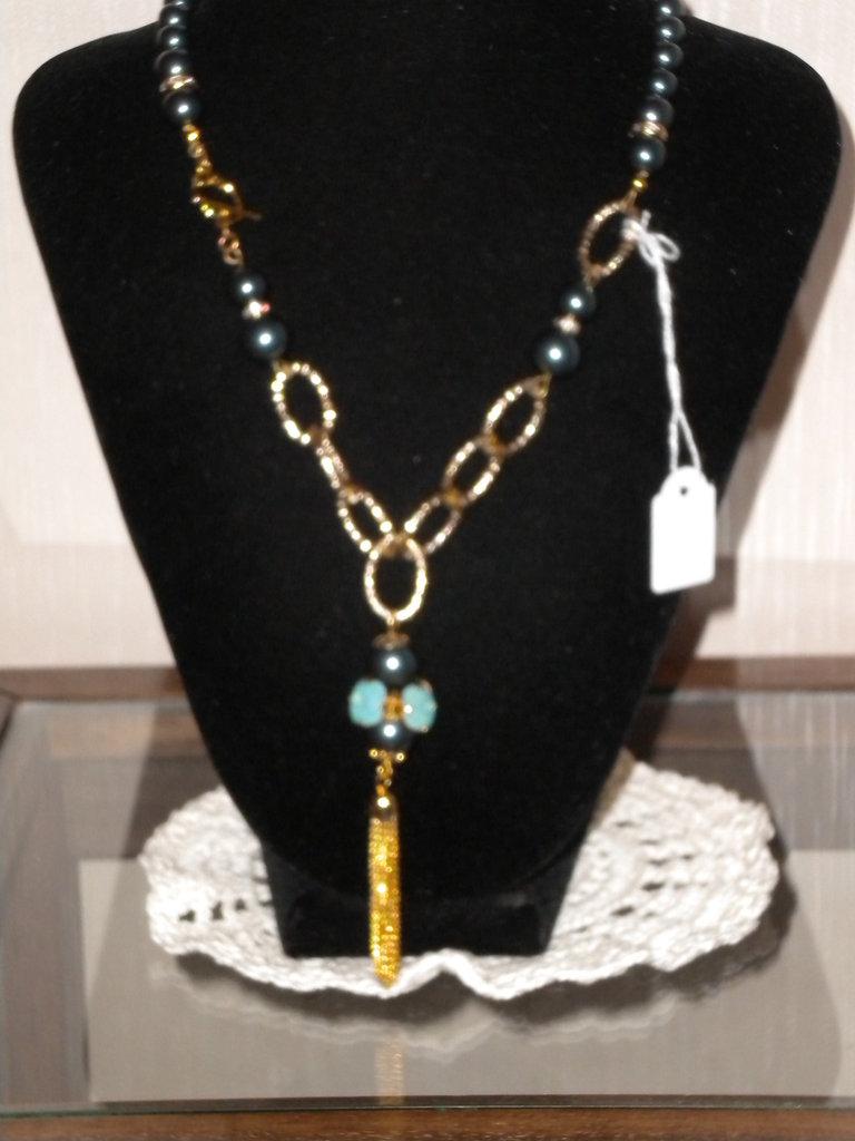 Collana con perle swarovski