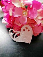 Sacra Famiglia cuore traforato  gesso ceramico per fai da te  nuovo modello