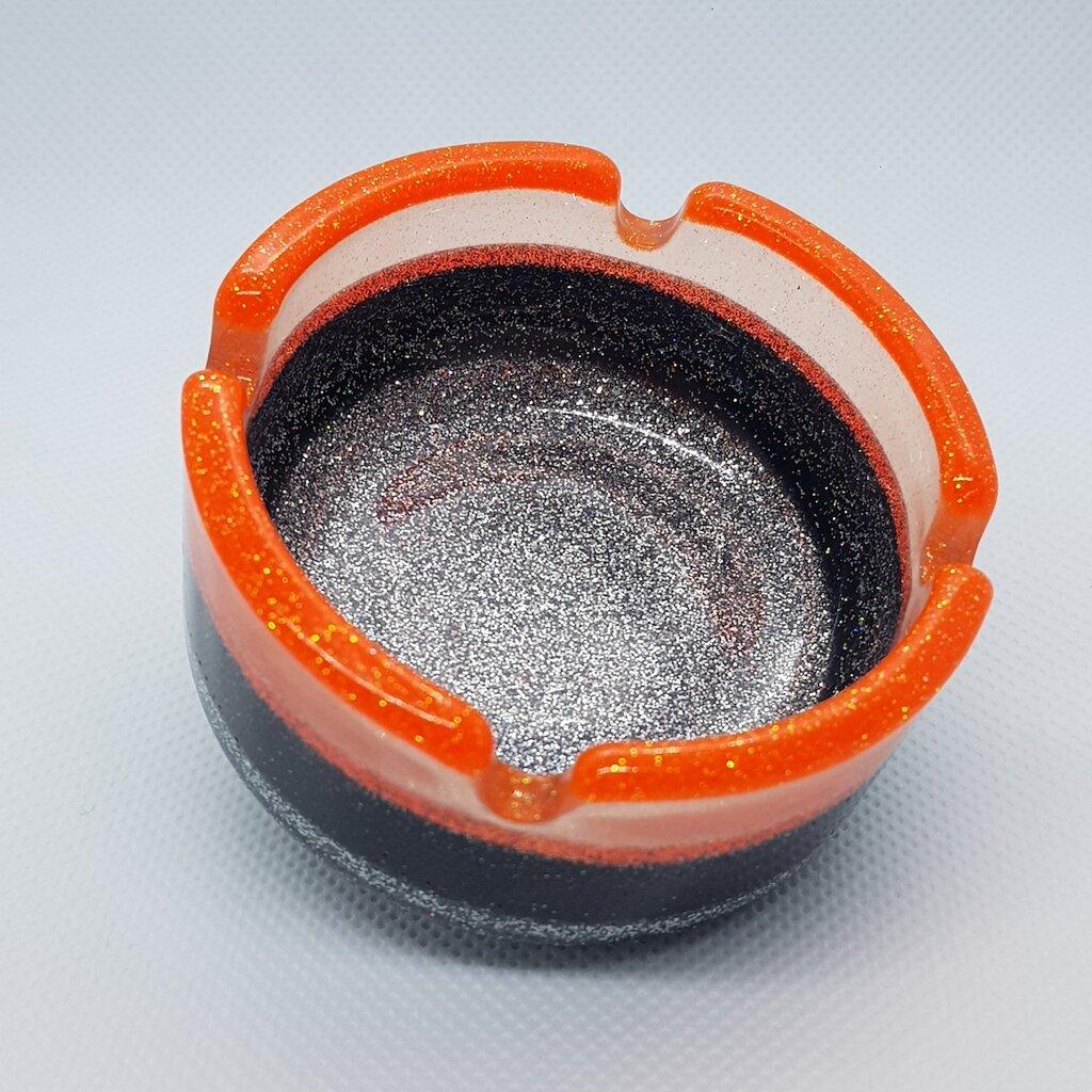 Posacenere in resina glitterato rotondo