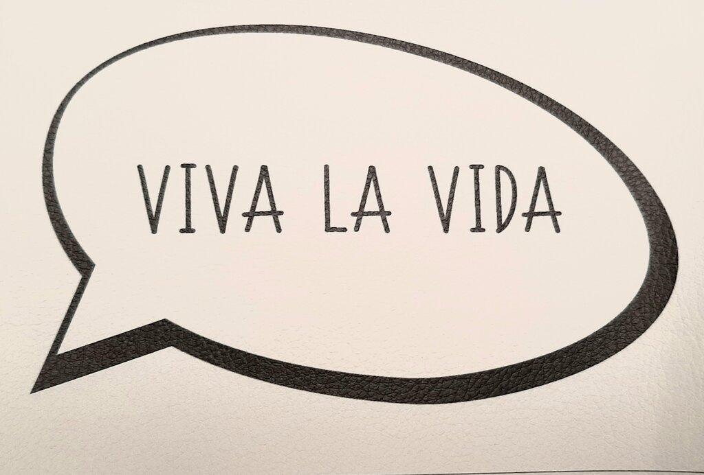 """Vignetta in ecopelle """"VIVA LA VIDA"""""""