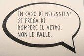 """Vignetta in ecopelle """"IN CASO DI NECESSITA"""""""""""