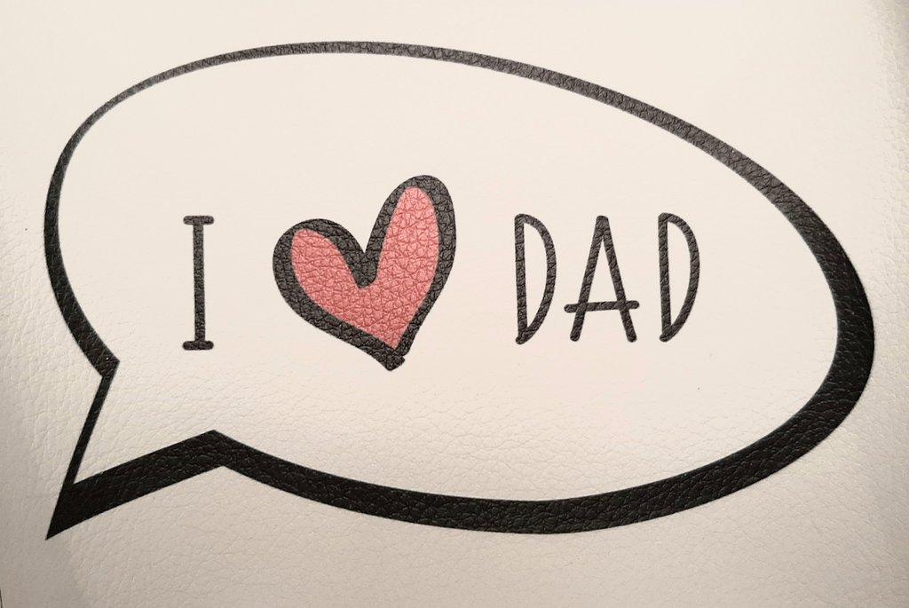 "Vignetta in ecopelle ""I LOVE DAD"""