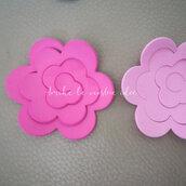 Fustellati rosa  fiore in gomma crepla o feltro