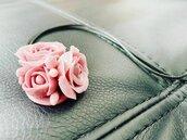 Ciondolo Rose Rosa Pastello