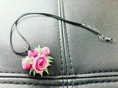 Ciondolo Rose Rosa