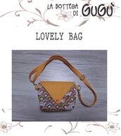 DIY - Cartamodello per realizzare la LOVELY BAG con cerniera e tracolla (in PDF)