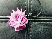 Ciondolo Rose Viola