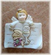 Stampo vangelo libro calice con angelo comunione in silicone misura 4,5 cm