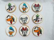 Biscotti decorati segnaposto Topolino compleanno festa a tema biscotto segna posto disegno