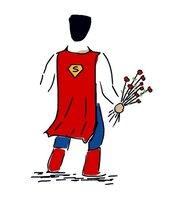 File di ricamo a macchina, Disegno Superman Supereroe. Ricamo per ricamatrici. Formati PES, PEC, VP3, VP4, VIP, HUS, XXX, JEF, PES, DST, EXP