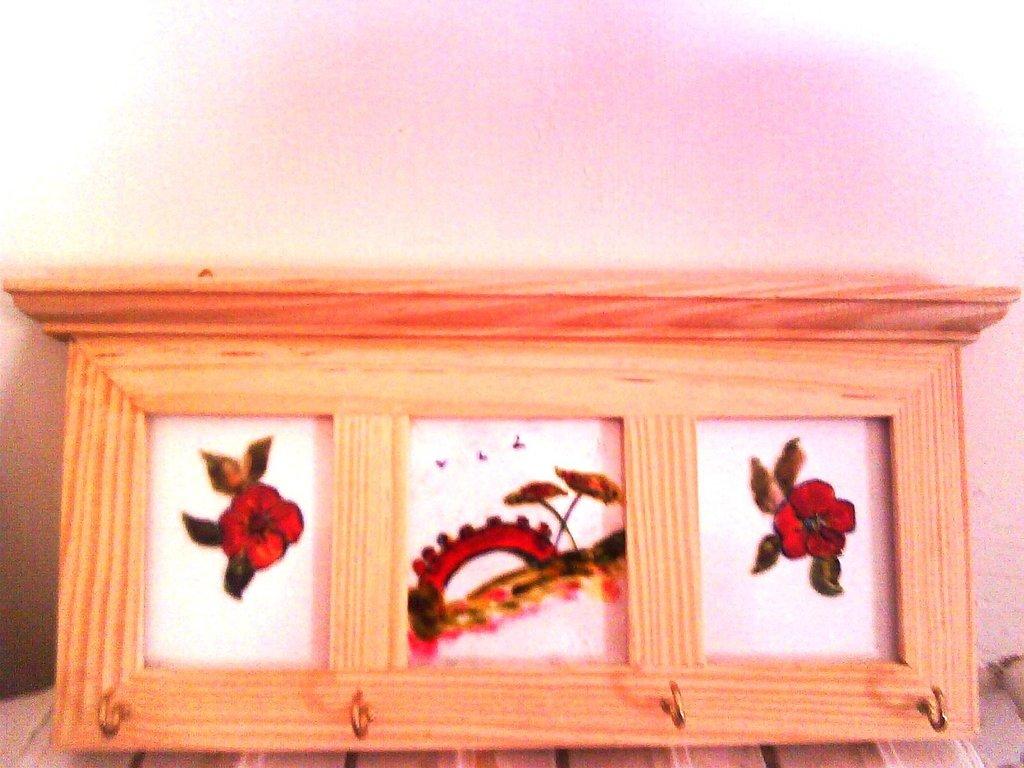 quadretto portachiavi in legno