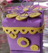 Bomboniere,segnaposto, matrimonio,  cresima scatoline lilla