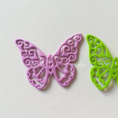 Fustellati farfalla in gomma crepla o feltro