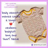 cartamodello pdf baby body molto semplice da taglia 0 mesi a 24 mesi