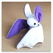 Pupazzo Sognastrello Bianco Viola - Fanta Pets by Nixie Creations
