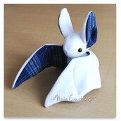 Pupazzo Sognastrello Bianco Tartan Blu - Fanta Pets by Nixie Creations