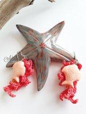 Orecchini Pesciolino Corallo