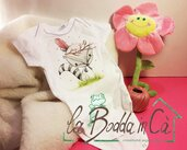 BODY abbigliamento neonato Dipinto a Mano PERSONALIZZATO idea regalo - 100 % cotone biologico