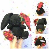 Pupazzo Lunar Bunny Nero - Fanta Pets by Nixie Creations