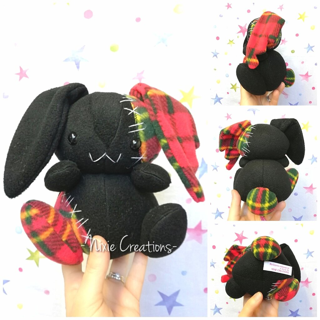 Pupazzo Lunar Bunny Nero - Fanta Pets by Nixie Creations
