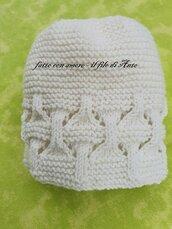 Cappello bambino / bambina in pura lana merinos 100%
