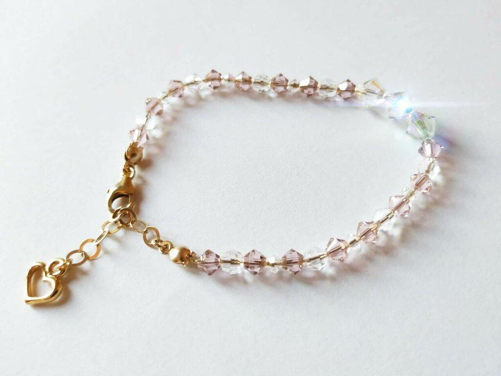 Bracciale con cristalli luminoso, bracciale donna, gioielli sposa