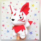 Pupazzo Kitsune - Volpe a 9 Code Giapponese - Fanta Pets by Nixie Creations