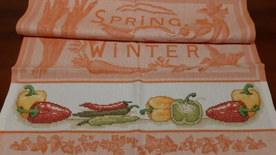 Asciughino / Asciugapiatti cucina arancio Peperoni