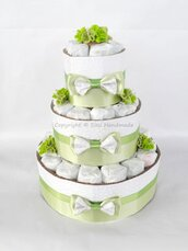 Torta pannolini UNISEX + banner nome