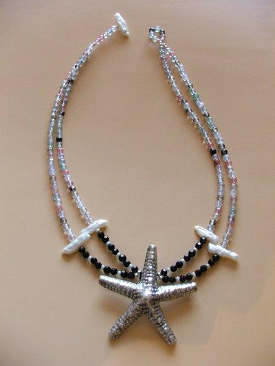 Collana con stella in argento