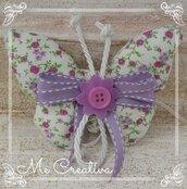 Farfalla Portaconfetti in tessuto