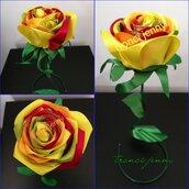 rose in raso realizzate a mano