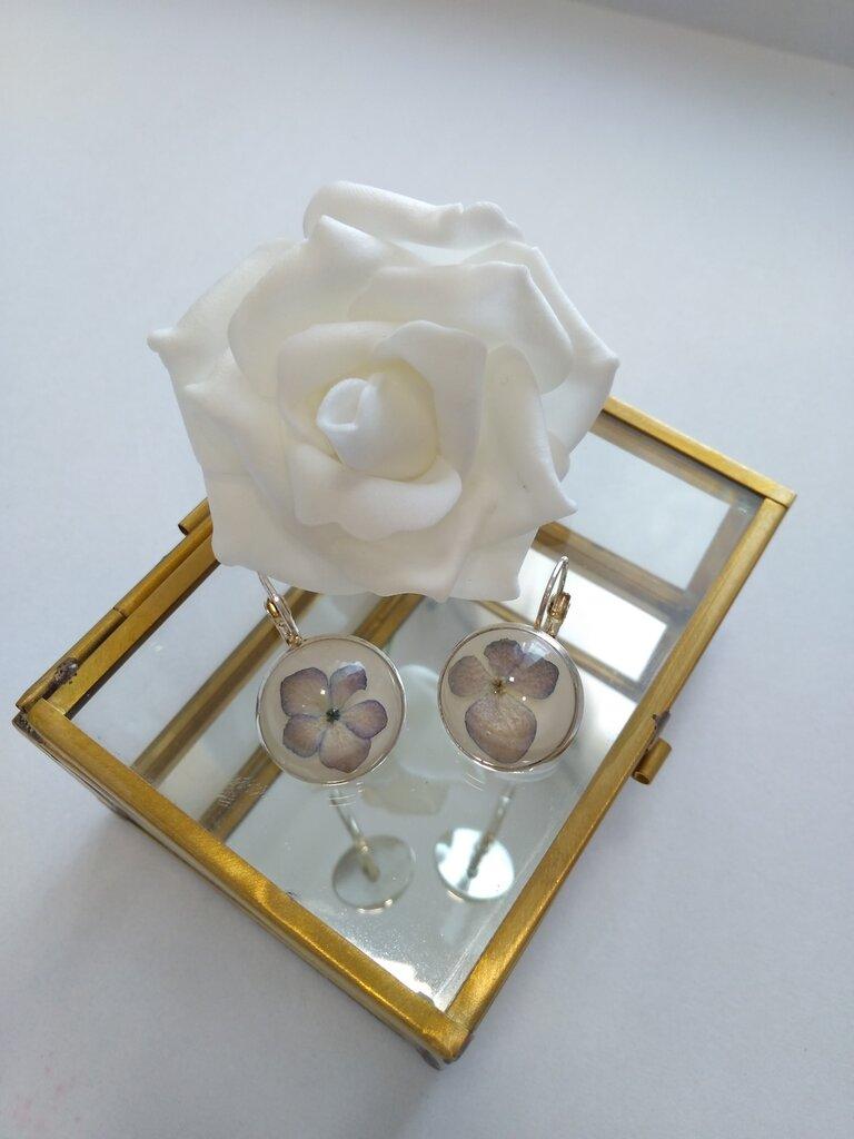 Fiori Di Ortensia Secchi orecchini fatti a mano orecchini donna fiori bigiotteria donna fiori veri  fiori secchi creazioni in resina