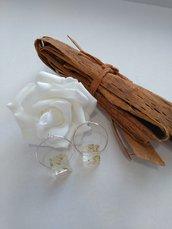 Orecchini donna cerchio orecchini lobo fiori veri ortensia soffioni orecchini fatti a mano ciondolo resina