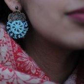 gioielleria artigianale, orecchini tradizionali online, ricami a mano , orecchini originali