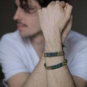 bracciale originale unisex di tessuto ricamato , bracciale etnico online