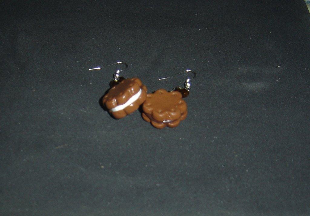 orecchini biscotto ripieno