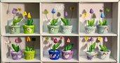 Mini tulipani in legno di creazioni GiaRó  Ⓒ