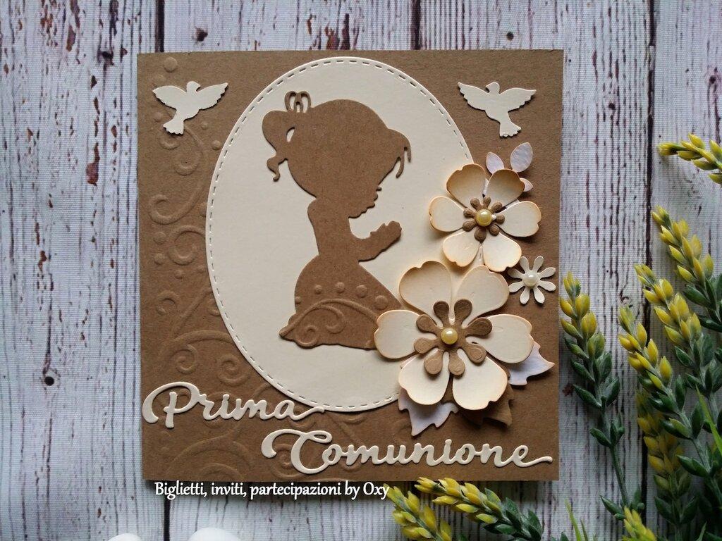 Invito / Card / Comunione / Calice / Bimba/o