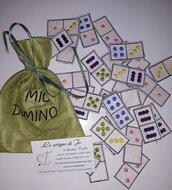 Domino ricamato regalo utile gioco per bambini