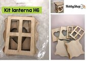 Kit Lanterna in legno H6,5 (6 pezzi)