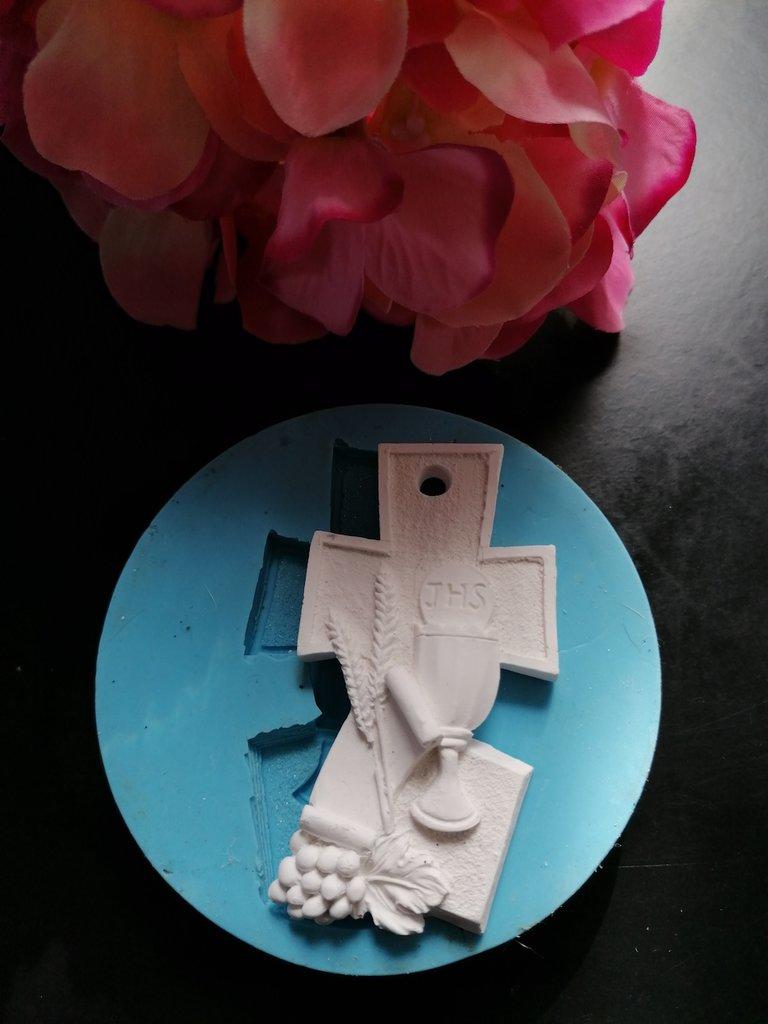 Stampo croce icona comunione in gomma siliconica professionale da colata