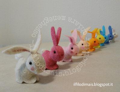 Cartamodello coniglietto segnaposto con sorpresa ovetto di cioccolato - bunny rabbit cucito creativo - sewing PDF pattern tutorial