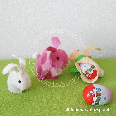 Cartamodello coniglietto porta ovetto di cioccolato con sorpresa - bunny rabbit cucito creativo - sewing PDF pattern tutorial