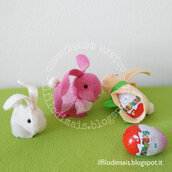 Cartamodello coniglietto porta ovetto di cioccolato con sorpresa - bunny rabbit cucito creativo - sewing PDF pattern tutorial