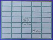 Busta con 10 fogli etichette bianche autoadesive