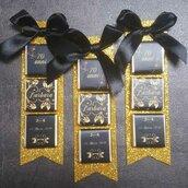 Segnaposto cioccolatini oro e nero