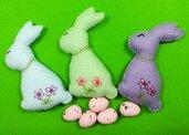 Set 3 coniglietti marzolini