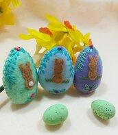 Set 3 ovetti coniglietti