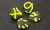 Orecchini neon gialli nero fimo  pasta polimerica